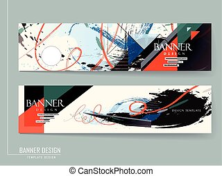 stylish banner brochure design