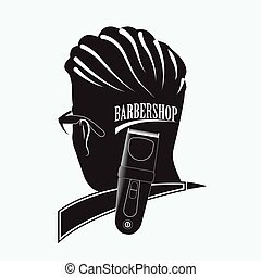 Stylish Barber Shop - Logo for the Barber shop. Silhouette...