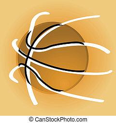 Stylish basketball - Concept illustration showing a stylized...
