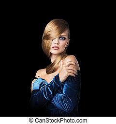 Stylish beauty portrait of woman
