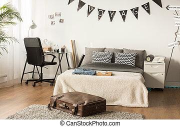 Stylish bedroom for teenager
