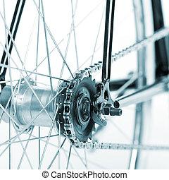 Stylish bicycle isolated on white