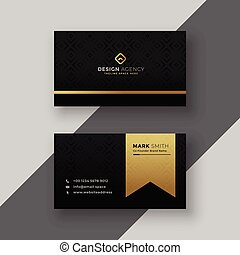 stylish black and golden business card design