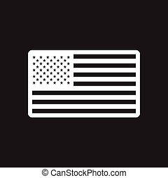 stylish black and white icon American flag