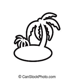 stylish black and white icon Indian palm