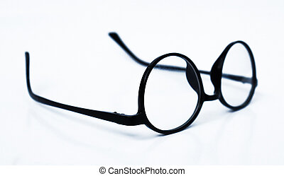 Stylish Black frame glasses isolated on white background. Eye Glasses