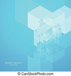 stylish blue abstract geometric background design