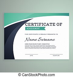 stylish blue certificate design template