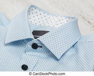 Stylish blue shirt - Close up of stylish blue shirt