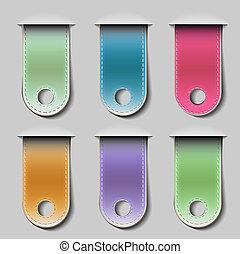 Stylish bookmarks. Vector eps 10