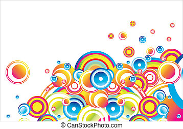 Stylish bubbles background - Colorful mix of circles for...