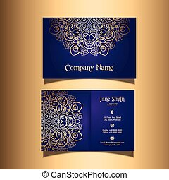 stylish business card 0107 - Business card with a stylish...