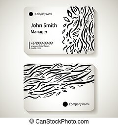 Stylish business card template. Vector illustration.