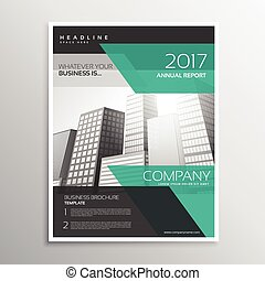 stylish business leaflet or brochure design with abstract...