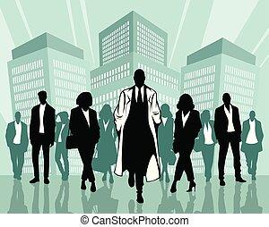 Stylish business people