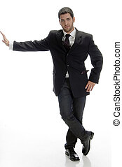 stylish businessman posing
