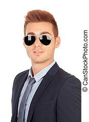Stylish businessman with sunglasses