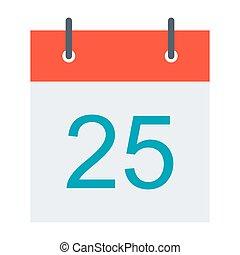 Stylish calendar illustration