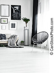 Stylish chair under the window