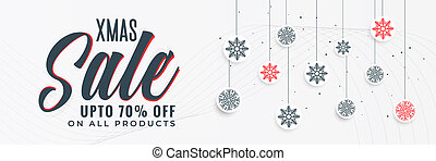 stylish christmas sale banner design
