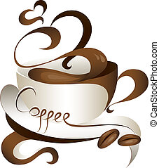 coffee - stylish coffee cup vector illustration