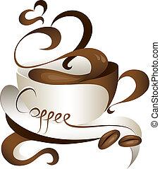 coffee - stylish coffee cup vector illustration