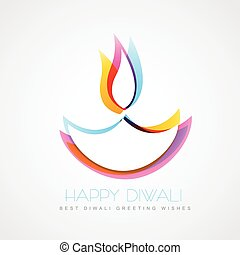 colorful diwali diya - stylish colorful diwali diya isolated...
