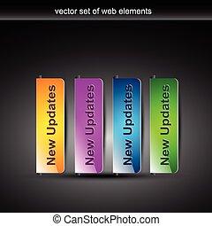 stylish colorful web buttons