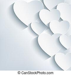 Stylish creative abstract background, 3d heart. Stylish...