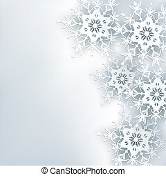 Stylish creative abstract background, 3d snowflake