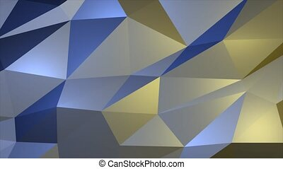 Stylish Creative Abstract white low poly Loop background in 4k.
