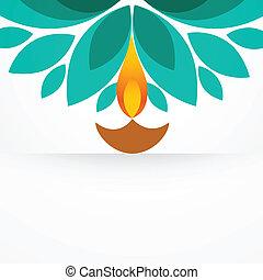 stylish creative diya - stylish colorful diwali diya design