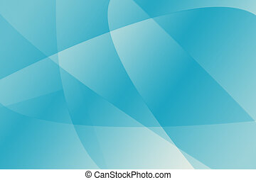 Abstract Aqua Background - Stylish Curves Enhance a Trendy...