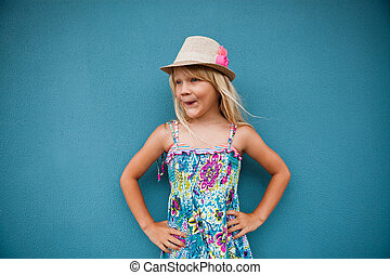 Stylish cute young girl
