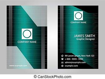Stylish dark business card template