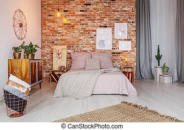 Stylish decor of bedroom