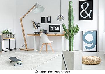 Stylish decor of office