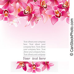 Stylish design with orchids