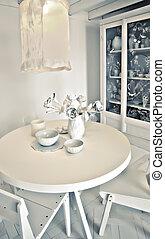 stylish  dinner table