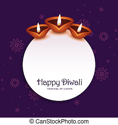 stylish diwali background with text space