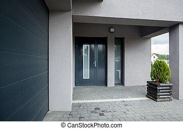 Stylish doors - Photo of the luxury stylish blue entrace...