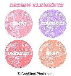 Stylish elements for design. Vector illustration