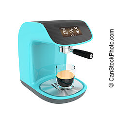 Stylish espresso coffee machine
