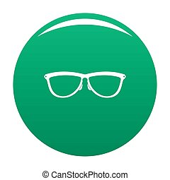 Stylish eyeglasses icon green