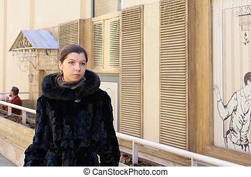Stylish fashion brunette girl 2