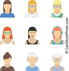 Stylish female character set