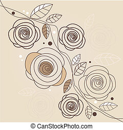 Stylish floral background illustration