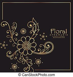 stylish floral pattern design background