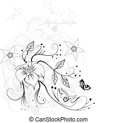 Stylish floral