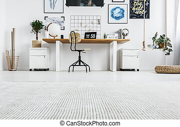 Stylish furniture in home office